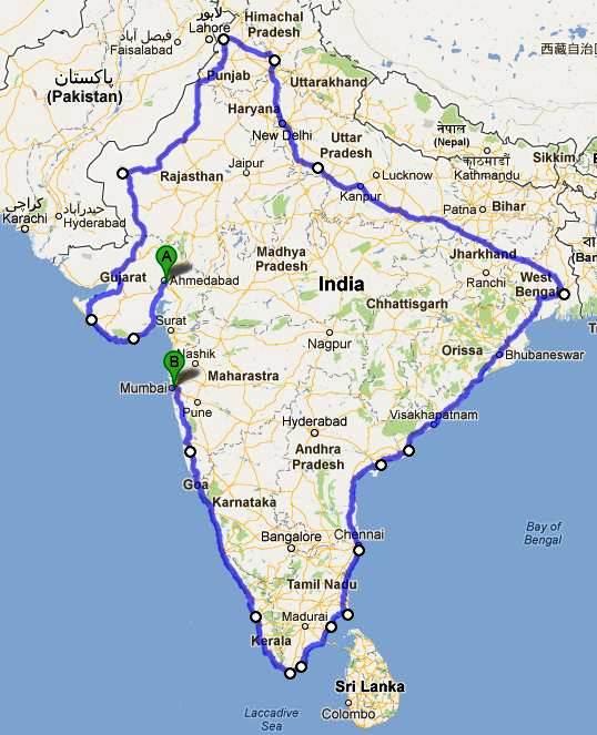 Le tour de l'Inde à vélo inde-a